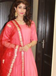 Fancy Pink Anarkali Suit