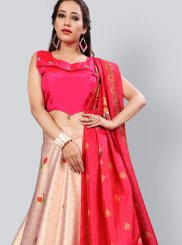 Fancy Pink and Red Lehenga Choli
