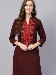Fancy Rayon Brown Casual Kurti