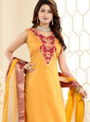 Fancy Yellow Churidar Designer Suit