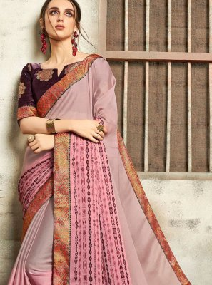Faux Chiffon Abstract Print Multi Colour Printed Saree