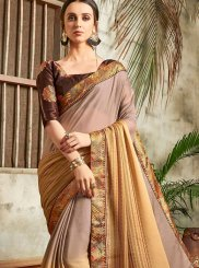 Faux Chiffon Abstract Print Printed Saree