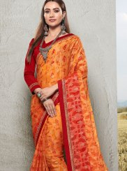 Faux Chiffon Ceremonial Trendy Saree