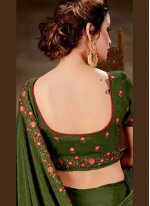 Faux Chiffon Embroidered Saree