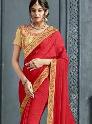 Faux Chiffon Party Trendy Saree