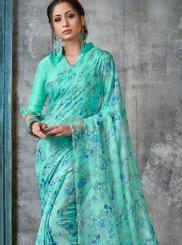Faux Chiffon Printed Saree