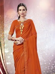 Faux Chiffon Stone Work Casual Saree