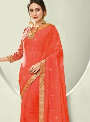 Faux Chiffon Trendy Saree