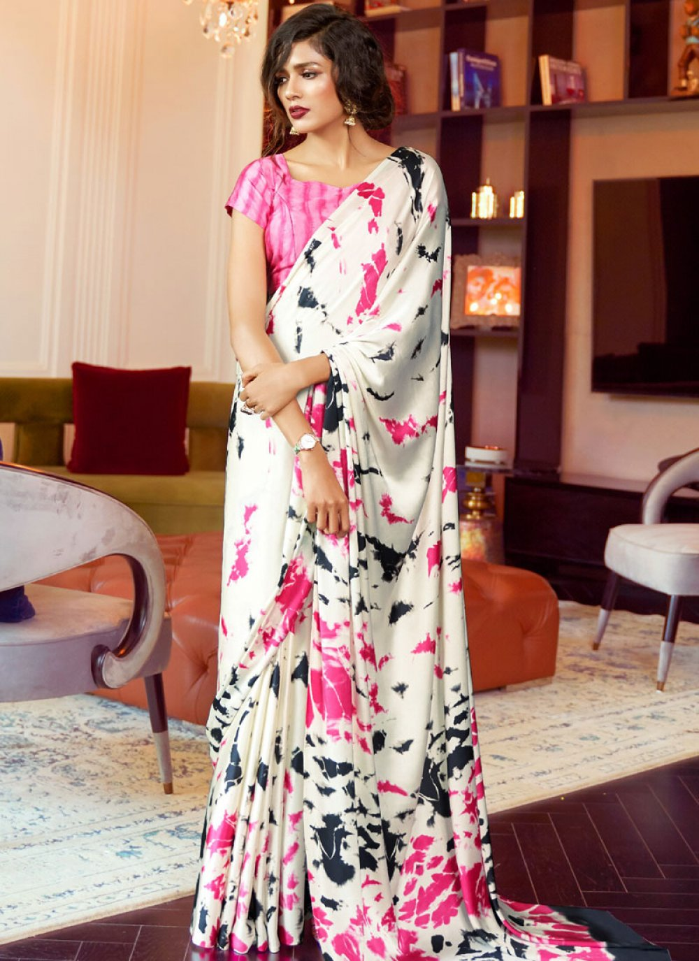 Faux Crepe Casual Saree