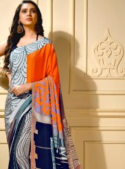 Faux Crepe Casual Trendy Saree