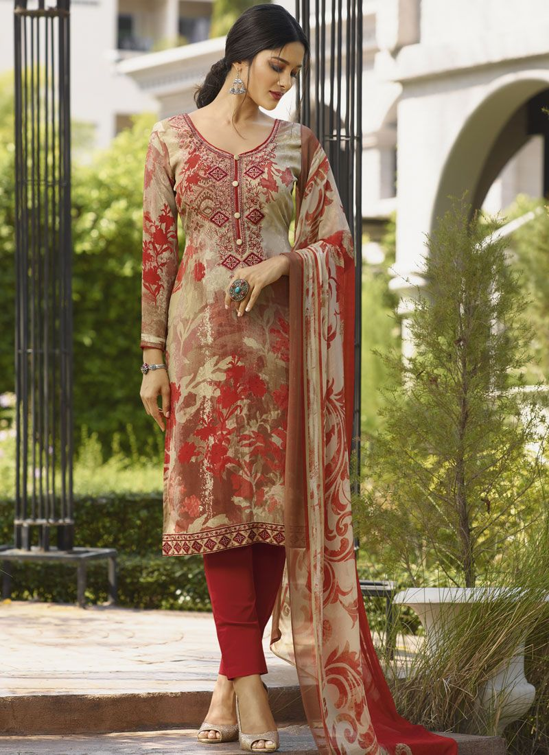 Faux Crepe Festival Designer Salwar Suit