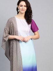 Faux Crepe Festival Party Wear Kurti