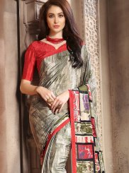 Faux Crepe Multi Colour Casual Saree