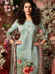 Faux Crepe Multi Colour Designer Palazzo Salwar Suit