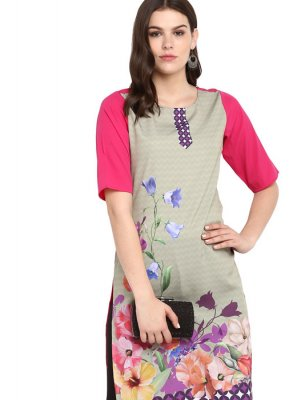 Faux Crepe Multi Colour Mukesh Casual Kurti