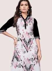 Faux Crepe Party Casual Kurti