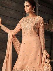 Faux Crepe Wedding Designer Salwar Kameez