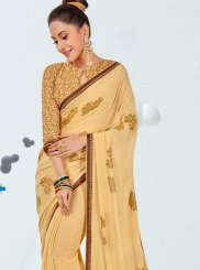 Faux Georgette Abstract Print Printed Saree
