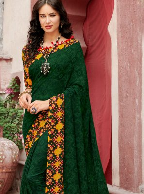 Faux Georgette Casual Casual Saree