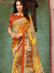 Faux Georgette Casual Saree in Multi Colour