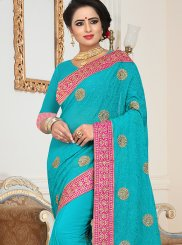 Faux Georgette Ceremonial Saree