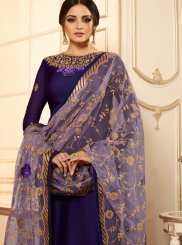 Faux Georgette Churidar Designer Suit