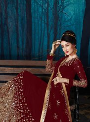 Faux Georgette Embroidered Anarkali Salwar Suit