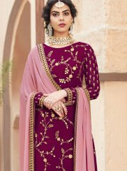 Faux Georgette Embroidered Designer Pakistani Suit