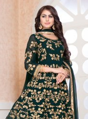 Faux Georgette Embroidered Floor Length Designer Salwar Suit