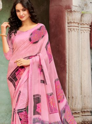 Faux Georgette Festival Casual Saree
