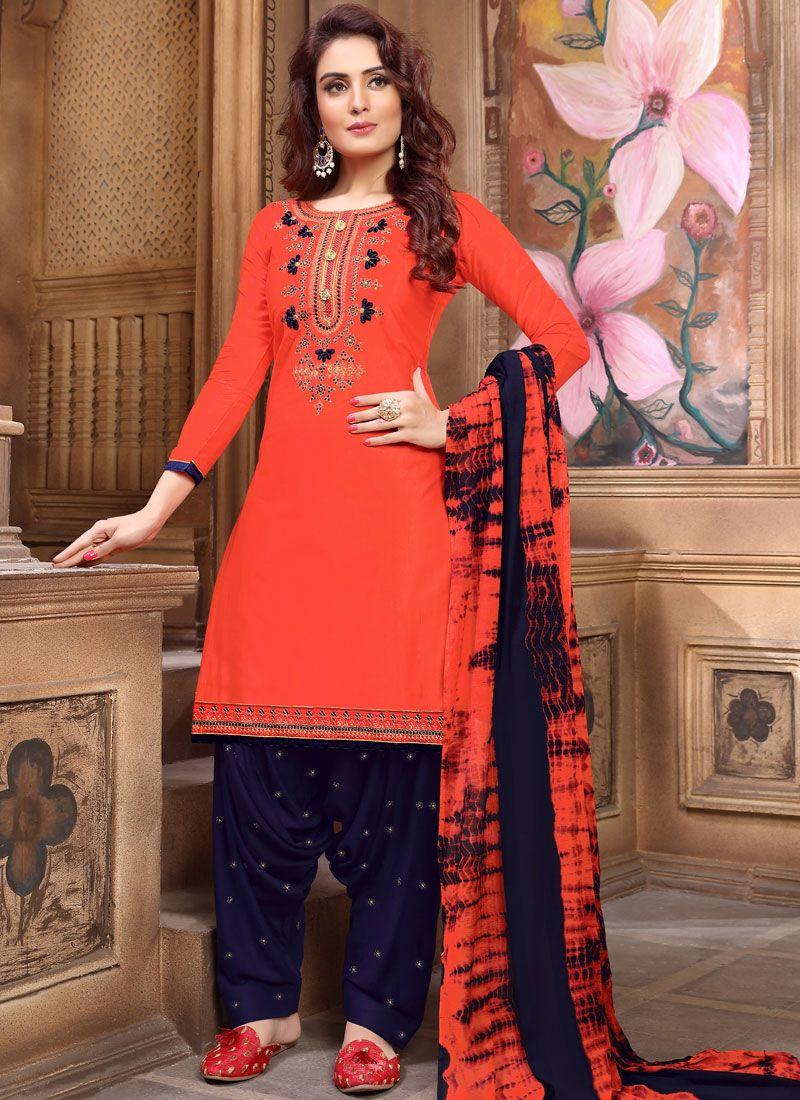 Faux Georgette Festival Designer Patiala Suit