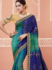 Faux Georgette Festival Shaded Saree