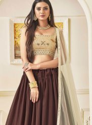 Faux Georgette Lace Lehenga Choli