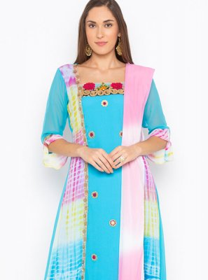 Faux Georgette Multi Colour Readymade Suit