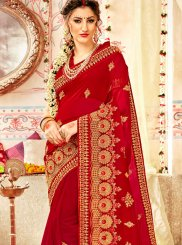 Faux Georgette Patch Border Classic Saree