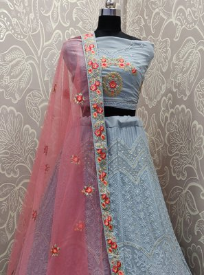 Faux Georgette Patch Border Lehenga Choli