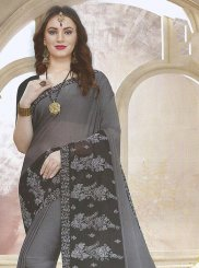 Faux Georgette Patch Border Traditional Saree