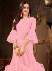 Faux Georgette Pink Designer Saree