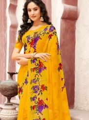 Faux Georgette Printed Casual Saree