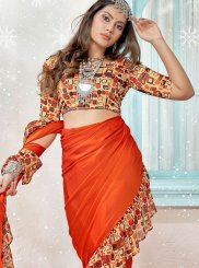 Faux Georgette Printed Designer Traditional Saree