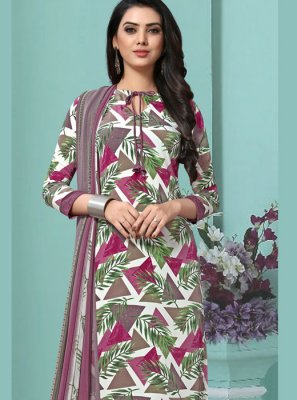Faux Georgette Printed Multi Colour Pakistani Salwar Suit