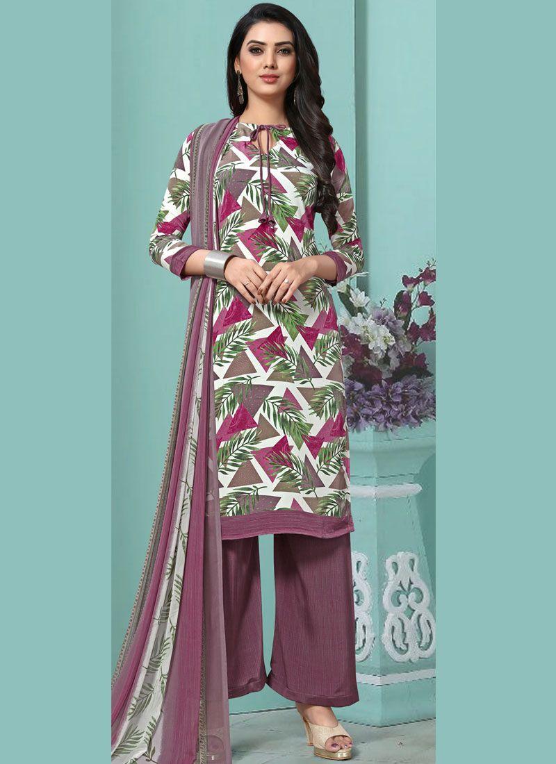 Faux Georgette Printed Multi Colour Pakistani Salwar Suit