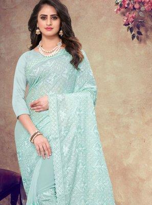Faux Georgette Resham Classic Designer Saree