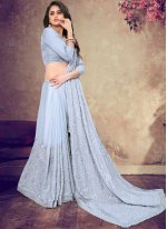 Faux Georgette Resham Classic Saree