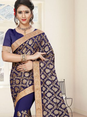 Faux Georgette Stone Work Classic Saree