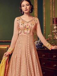 Faux Georgette Wedding Floor Length Anarkali Suit