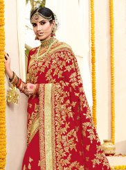Faux Georgette Wedding Trendy Saree