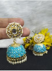 Firozi Color Ear Rings