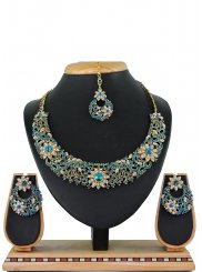 Firozi Color Necklace Set