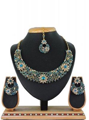 Firozi Color Necklace Set